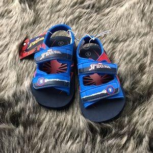 Spider-Man Velcro Sandals NWT